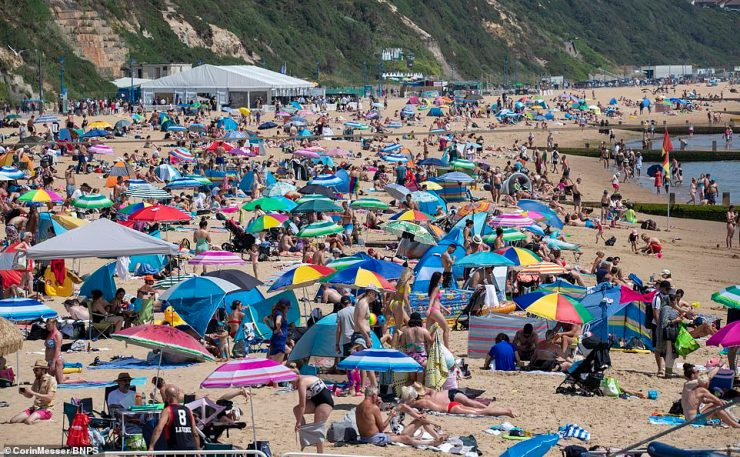 Today a third of the Dorset Police control room staff were off work after being notified by the NHS Covid app or Test & Trace to self-isolate or following a positive test. It came amid a surge of calls and an influx of visitors to spots like Bournemouth Beach
