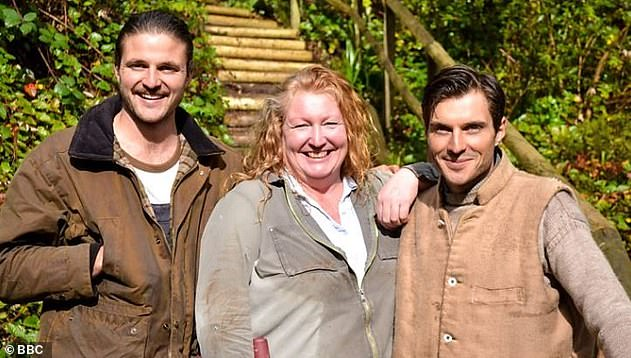 Recent work: Charlie now appears on Garden Rescue on the BBC with the Rich brothers, where they compete to win over homeowners to use their designs in a garden makeover