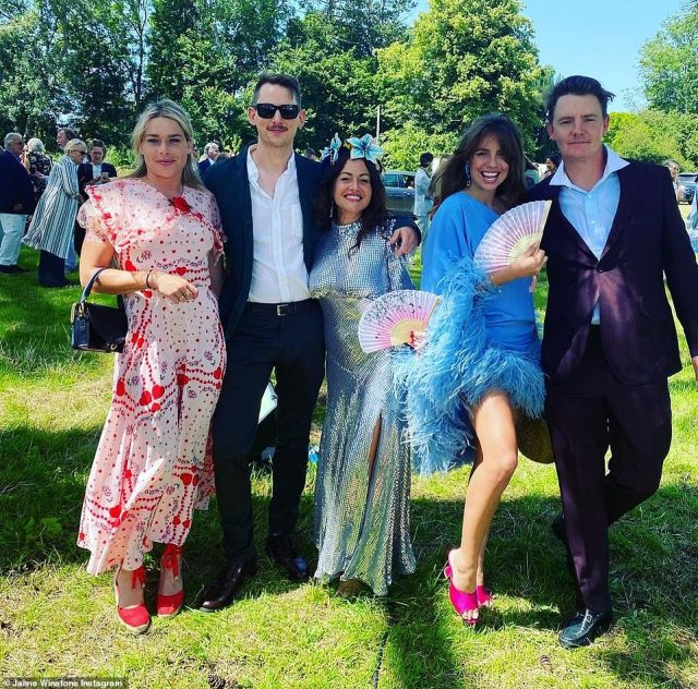 Strike a pose! Glamorous wedding guests dressed to the nines in their finest party frocks