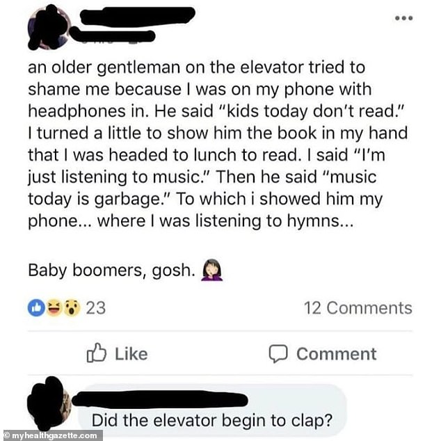 Gospel truth! People were cynical about this American Facebook user's tale of their encounter in a lift