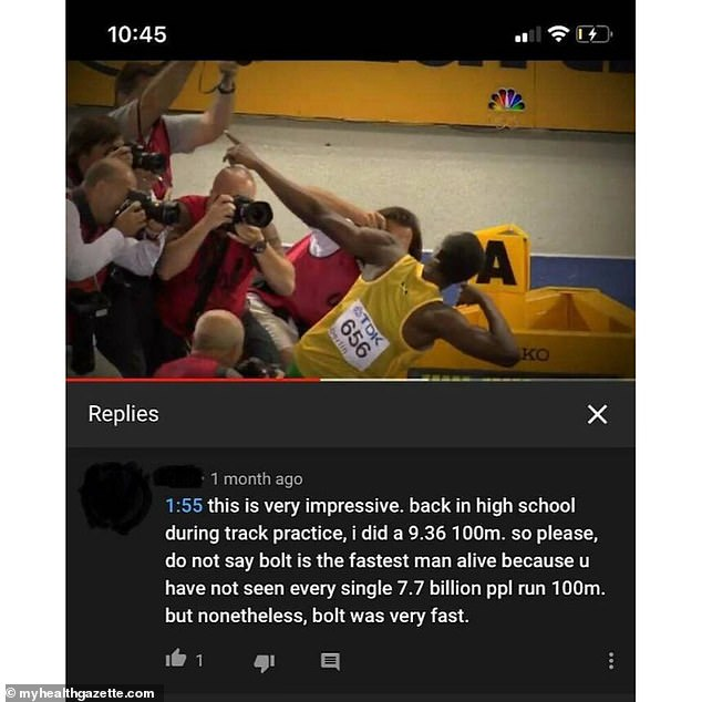 Not the world's fastest man! If only Usain Bolt knew that his record had been beaten by an amateur athlete from the US in high school, if not many other people