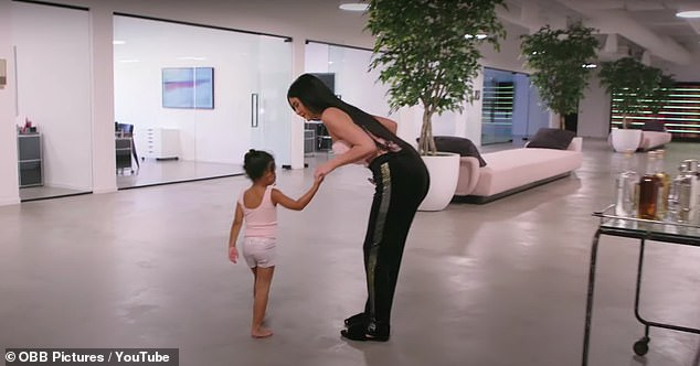 I like it, it's fun!Stormi then says she likes coming to work with her mom