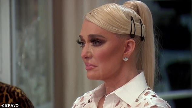 Crying: It's been an emotional time for Erika as she details her struggles on the show