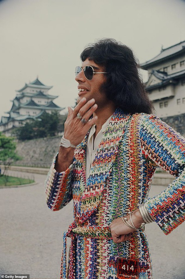 Freddie Mercury was in a class of his own.  In 1975 he rocked aviator curtains