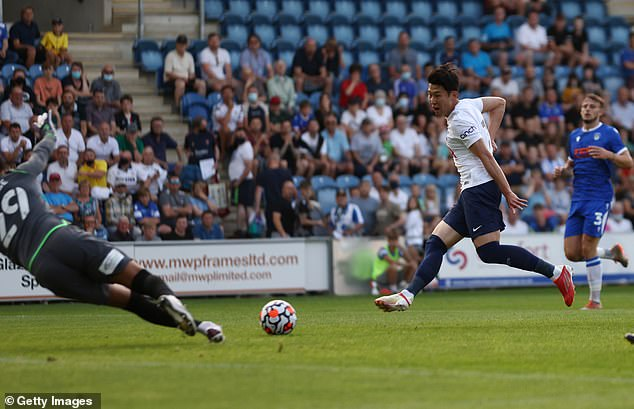 Son coolly slotted in Spurs' first goal of the clash and was sharp in his 45-minute appearance