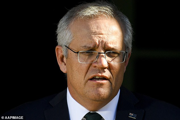 Storm: While it's understood Jenner obtained a special visa that means she isn't taking a hotel quarantine spot from an Australian, her arrival has nonetheless caused controversy as thousands of citizens remain stranded overseas. Mr Morrison said: 'That would've been done with the various states, I assume, and working through... a pretty lengthy exemption process'
