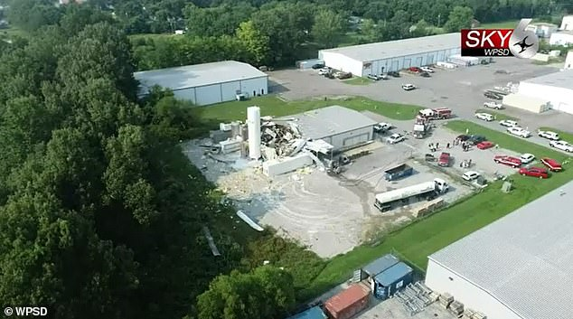 The explosion occurred at Charter Oak Drive on Industrial Drive in Paducah, after a truck unloaded liquid nitrogen into the facility, according to Robin Newberry, a spokeswoman for the Paducah Police Department.