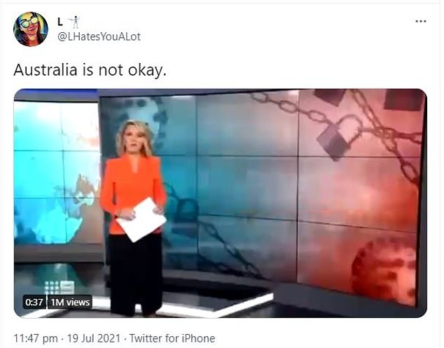 This tweet and footage from a Sydney news segment shared by a woman in the US is still going viral five days later