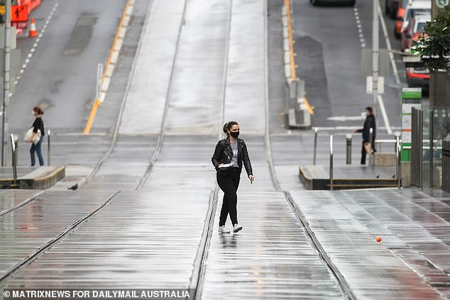 Australia is the laughingstock of the world with news that half of the country, including Melbourne (pictured) is locked