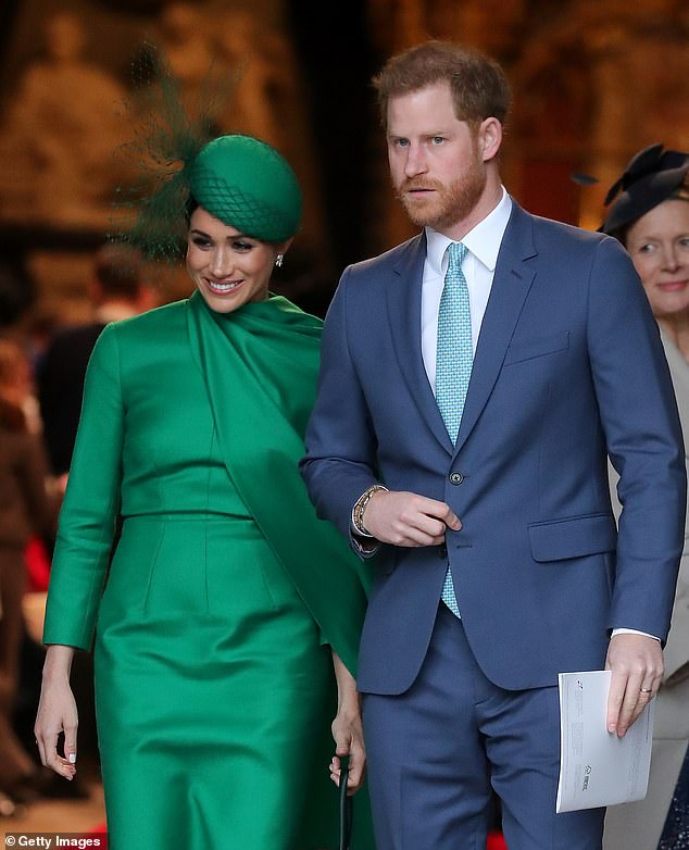 Estranged:Markle Jr. doesn't have a relationship with his famous younger sister Meghan (left), who is married to Prince Harry, Duke of Sussex (right). He was not invited to the Sussexes' wedding in May 2018, and at the time hadn't seen the Suits actress for about seven years