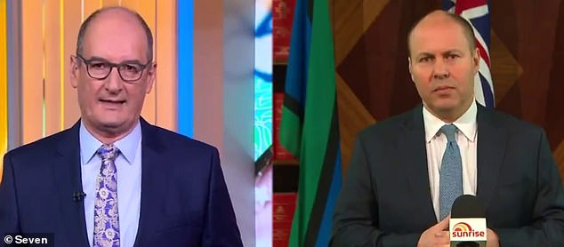 Sunrise host David Koch (pictured left) asked Treasurer Josh Frydenberg (right) if that was a recession was possible.Should the lockdowns linger on beyond September, there is the potential for the economy to shrink again in the December quarter, covering October, November and the Christmas shopping month