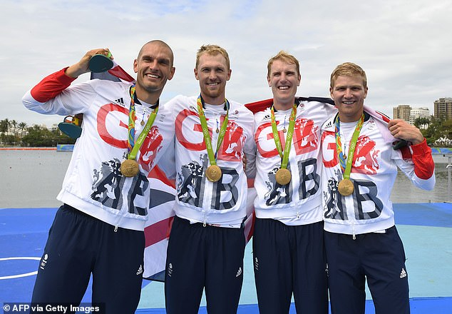 Londoner Sbihi (left), also 33, won gold in the men's four at the Rio Games five years ago