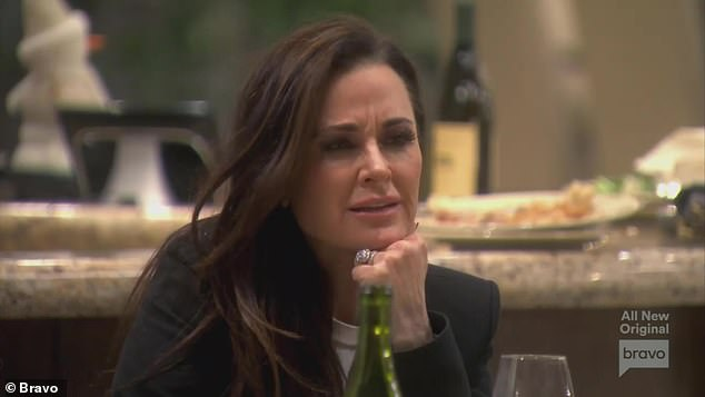 The host: Kyle Richards hosted the women at her home in La Quinta