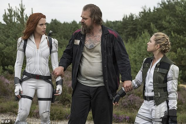 In theaters:Harbour can currently be seen in theaters as Alexei in Marvel Studios' Black Widow, which is also on Disney Plus with Premier Access