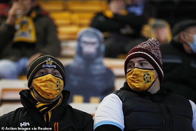 The club will ask spectators to wear masks and be considerate of other fans during matches