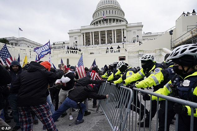 During the January 6 riots in the US Capitol, participants clashed with police