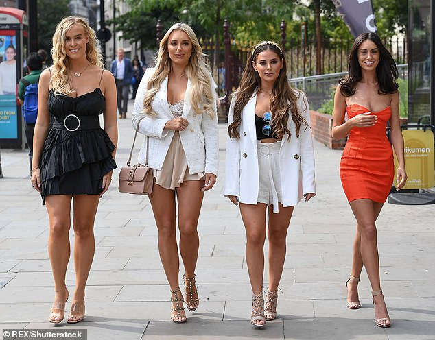 Moving on: Chloe, pictured far left, has been dropped from the show, as well as Courtney andClelia, while Amber, will remain on the series