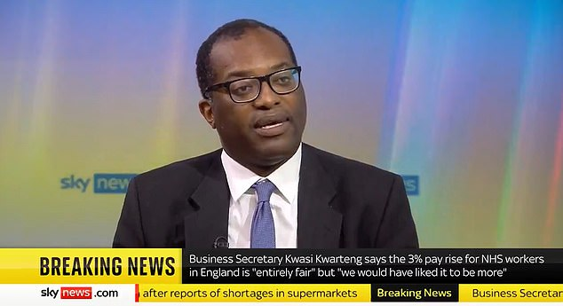 Business Secretary Kwasi Kwarteng suggested this morning that any vote would be 'general' on the 'concept' of Covid passports, rather than on the detail of where they apply