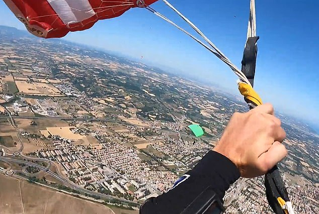 When the parachute broke out of its housing, he cursed when he realized the lines were completely messed up
