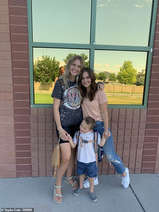 The women even fought as Taylor was furious when Madison posted photos of her toddler Beckham on Instagram.  Pictured, Taylor, Madison and Beckham