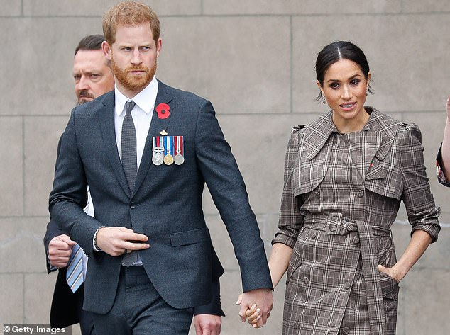Meghan Markle and Prince Harry are pictured in Wellington, New Zealand, in October 2018