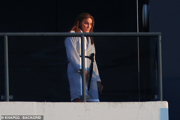 Fly-in visit: Sources close to Caitlyn told TMZ that she intends to stay in Australia for three weeks in total - spending the first two in mandatory quarantine at a hotel