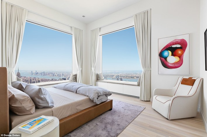 Some rooms have multiple windows and offer different views of New York City