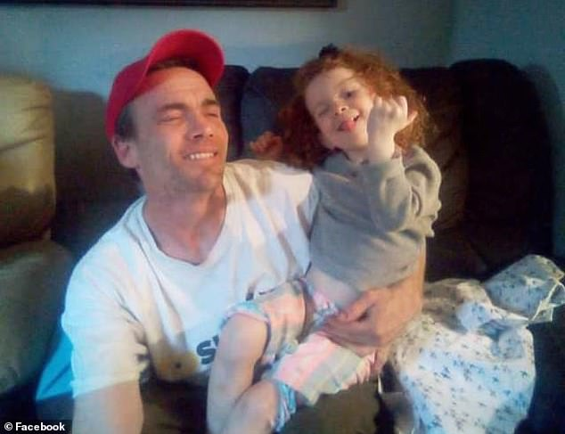 Police who came to rescue Maggie found a man, believed to be her father, Colby Millsap (pictured), dead in his living room