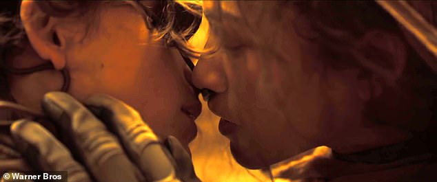 United: The trailer for the highly anticipated feature film Dune was released on Thursday.  In the clip, Timothee Chalamet's Paul Atreides and Zendaya's Chani share a kiss