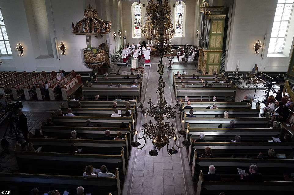 Events were held around the country today, including a service in Oslo Cathedral that ended with the first peal of bells