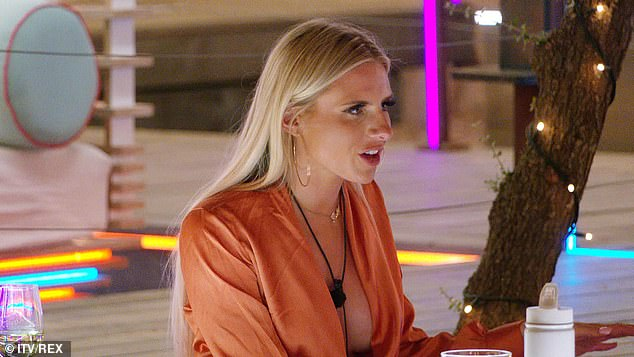 Unimpressed: It looks like there's trouble in paradise for Chloe Burrows (pictured) and Toby Aromolaran as his head starts to turn to new bombshell Abigail Rawlings