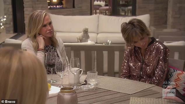 Friends: Erika joined Lisa Rinna, Kathy Hilton, Sutton Stracke, Dorit Kemsley and Crystal Minkoff at Kyle's desert house for a girls weekend away from LA