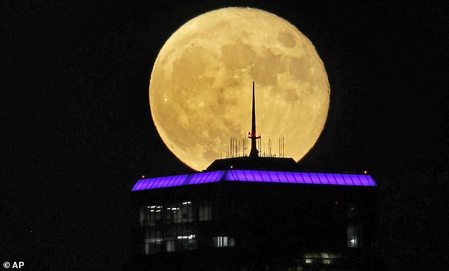 The Buck Moon will rise in the night sky on Friday, July 23, reaching its peak at 10:37 PM ET.  Pictured is the Buck Moon on July 5, 2020 in Kansas City, Missouri