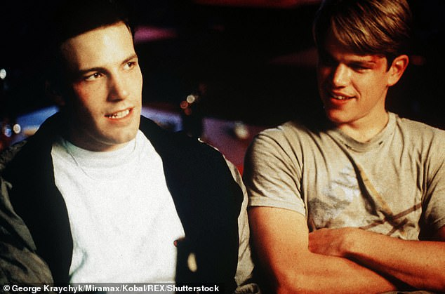 Big hit: Matt and Ben seen in the 1997 hit movie Good Will Hunting they wrote