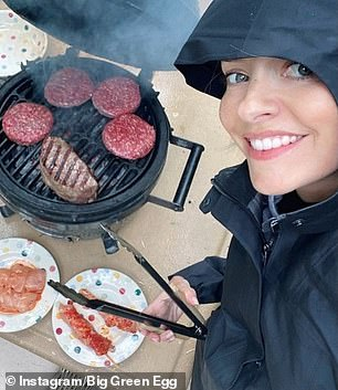 This morning host Holly Willoughby (picture cooking on a Big Green Egg)