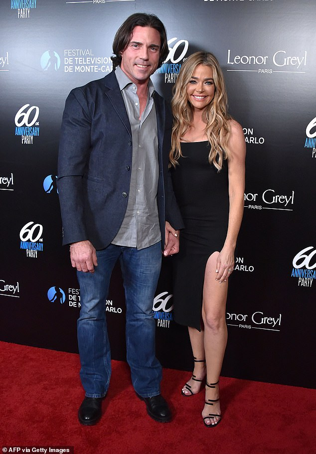 Lucky: Denise married holistic medicine entrepreneur Aaron Phypers, 48, in 2018. Pictured in 2020 in Los Angeles