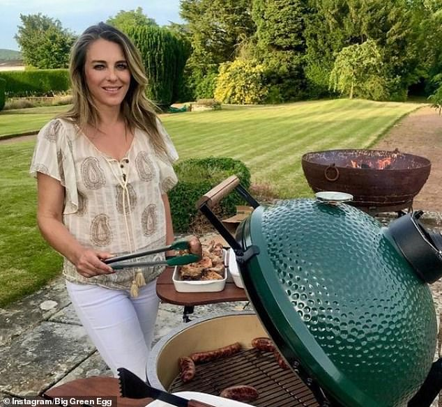 A former manager at a barbecue company - whose products have been promoted by A-listers such as David Beckham and Liz Hurley (pictured) - has won a lawsuit after he filed bullying claims against his US ex-boss