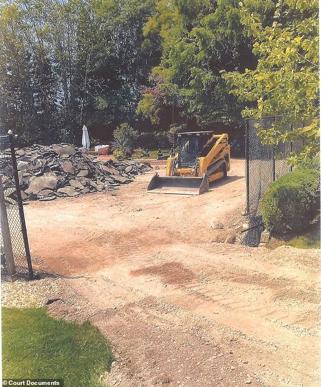 Court documents say the demolition work also destroyed the surrounding landscaping, and that Packer had refused to sign the new contract