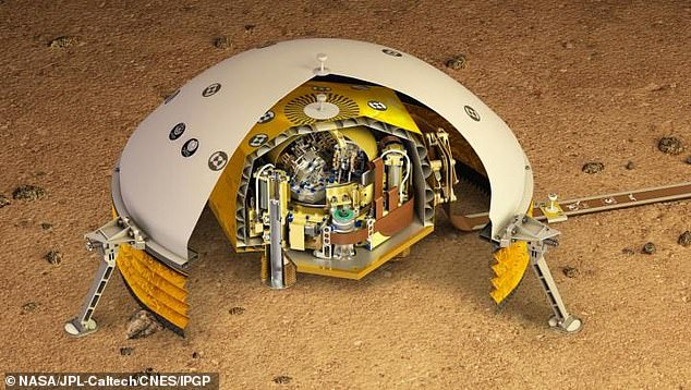 This is an artist impression ofSEIS, a highly sensitive seismometer that was used to detect marsquakes from the Red Planet's surface for the first time