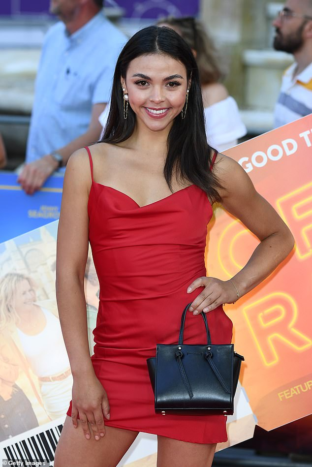 Wow!Vanessa Bauer led the glamour at the star-studded Off The Rails film premiere in London's Leicester Square on Thursday night wearing a leggy red mini dress