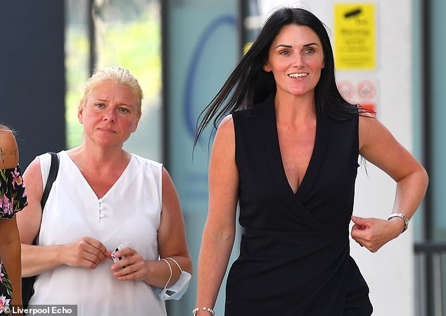 Samantha Willett (pictured right, leaving Liverpool Crown Court), 36, and Diana Reynolds (left), 41, were both operational managers of the Hillbark Hotel in Frankby, Merseyside
