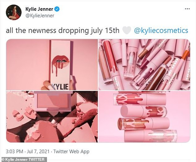 Out now:Kylie's snaps comes just days after she relaunched Kylie Cosmetics with new products and packaging, as well as updated formulas for fan favorites