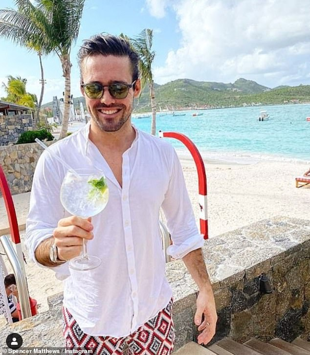 Balance: Spencer Matthews has revealed he now has the 'occasional glass of wine' after going teetotal three years ago