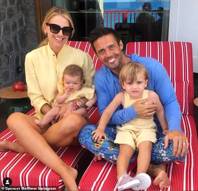 Change:Though he never had an alcohol problem, Spencer gave up drinking just before his first child Theodore was born, who he shares with wife Vogue Williams, 35. The couple now have a second child, a daughter, Gigi