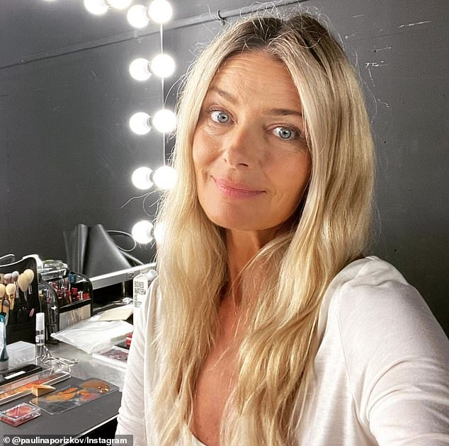 Keeping busy: The supermodel shared a photo of herself on set at a shoot in New York the day before she revealed their split