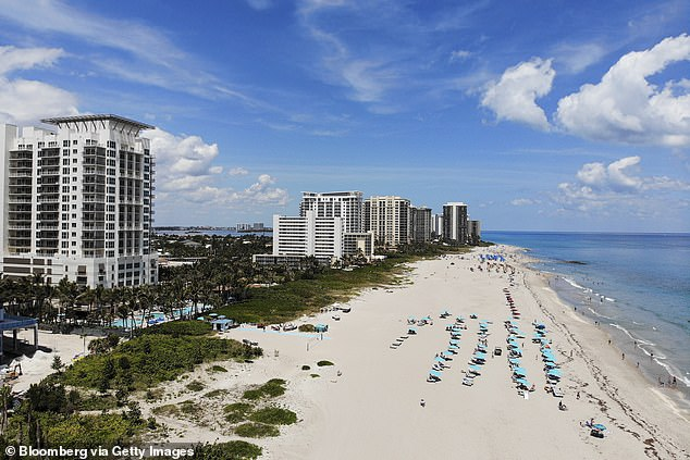 Palm Beach (pictured) is the most popular destination for New Yorkers migrating south