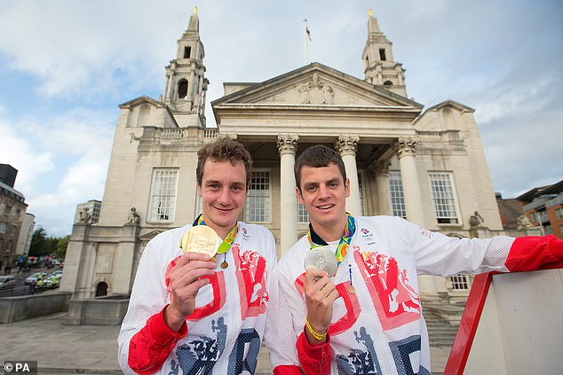 Jonny Brownlee (right) will be gunning for gold without brother Alistair (left) alongside him