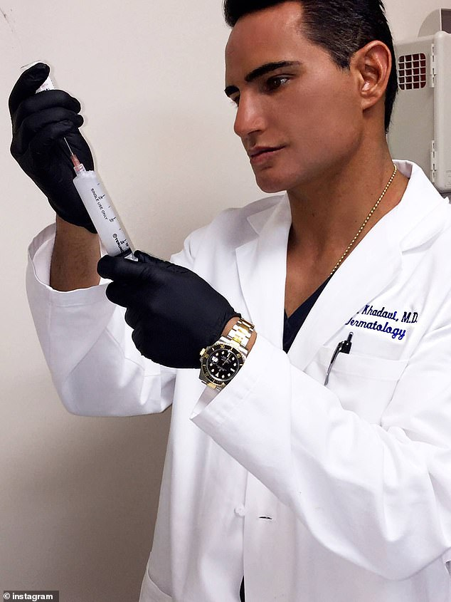 Khadavi works at the Dermatology & Laser Medical Center, which has locations in the celebrity enclaves of Encino and Thousand Oaks.