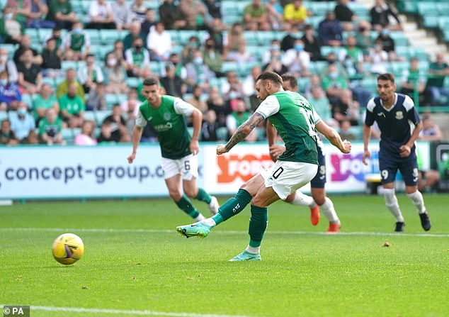 Martin Boyle stepped up to coolly slide the ball into the bottom corner to bring his side forward
