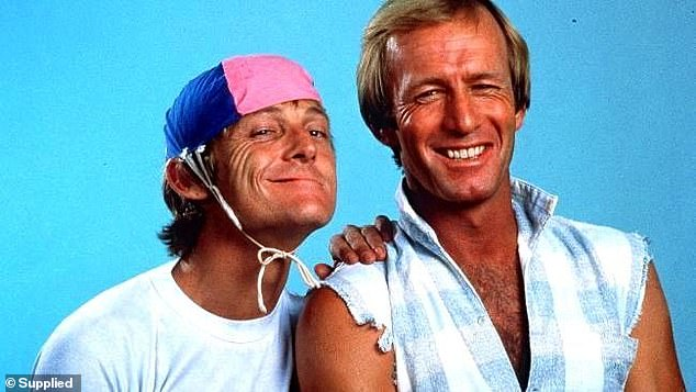 Farewell: Paul Hogan's best mate and longtime manager John 'Strop' Cornell has died aged 80 (pictured together)